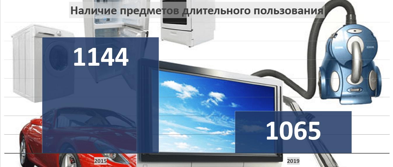 В домашних хозяйствах Пермского края сократилось количество предметов длительного пользования