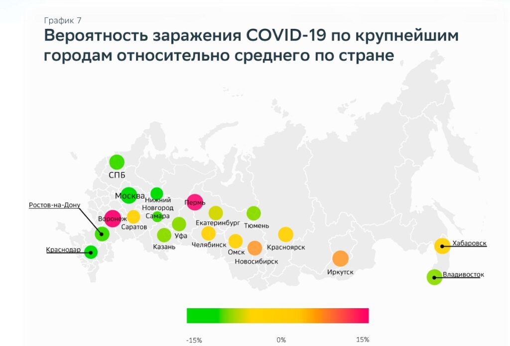 Пермь является одним из городов РФ, где наиболее высок риск заражения коронавирусом